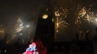 Manchester Christmas Switch On Lights Fireworks 2014