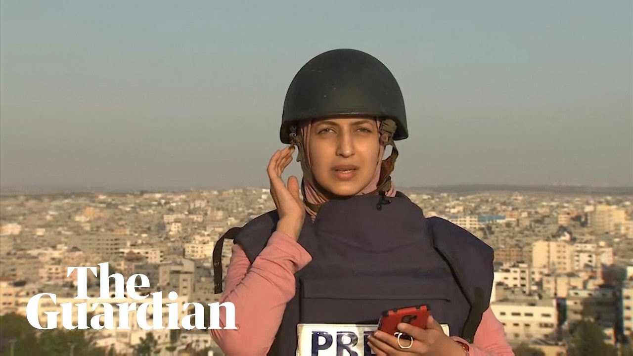 IsraelGaza Strike collapses building during live BBC report  BBC News