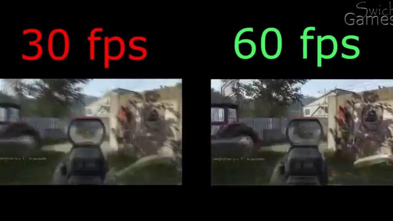 Разница 30 и 60 кадров в секунду