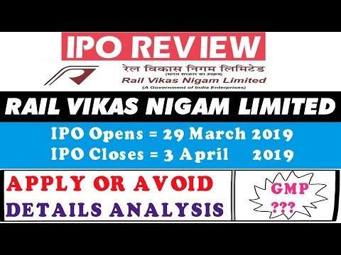 Rail vikas nigam limited ipo should you subscribe