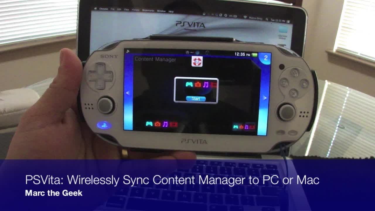 Cross-platform content manager assistant for the PS Vita