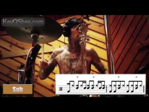 Free Drum Lessons | Travis Barker Warms Up - Transcribed