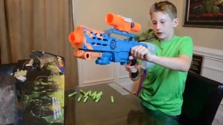 [Nerf war] Zombie Strike CS 12 Longshot Unboxing and Review