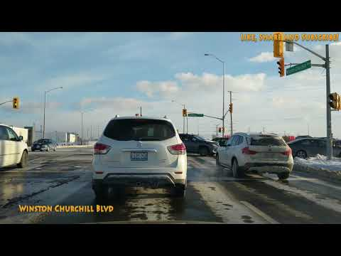 Driving to Erin Mills Town Centre Mississauga from Brampton Canada