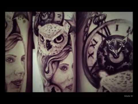 Tatuajes buhos relojes bosques youtube - Dibujos tribales para tatuar ...