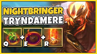 TRYNDAMERE JUST GOT AN AMAZING NEW SKIN!! Rank 1 Tests Nightbringer Tryndamere - League of Legends