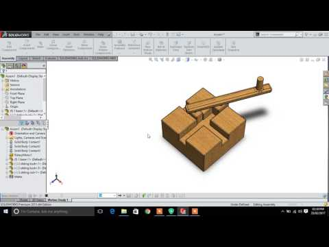 solidworks mechanism of rotary motion to reciprocating motion