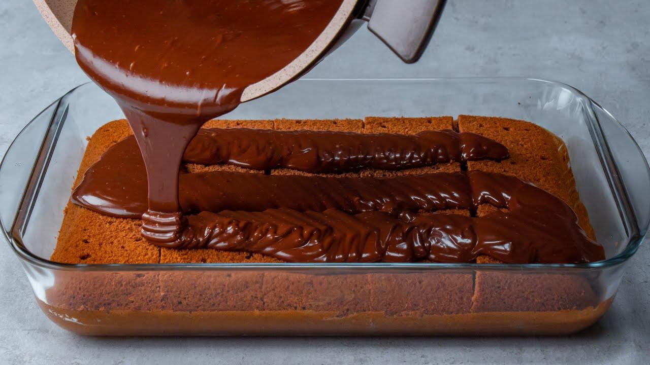 El pastel más sabroso - Cortar la base y después y hecho la crema de chocolate