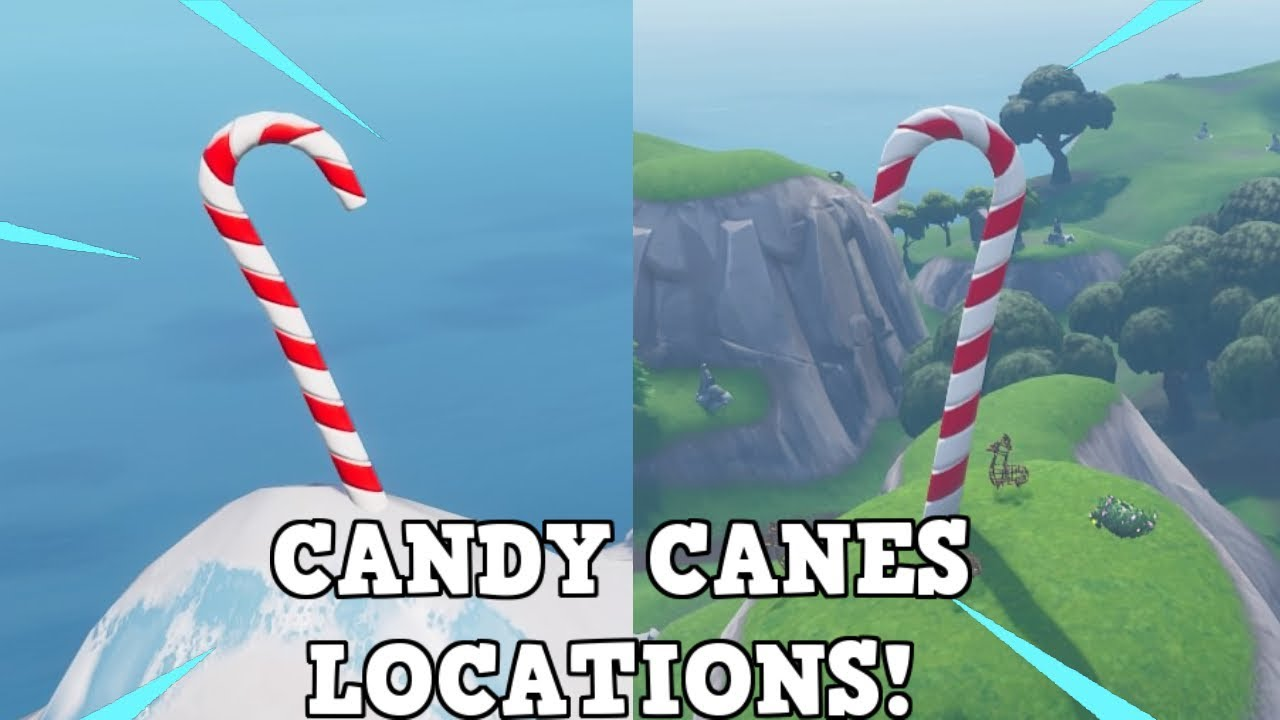 All Giant Candy Cane Locations I 14 Days Of Fortnite Challenge