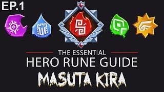 hero rune guide ep 1 masuta kira dungeon boss