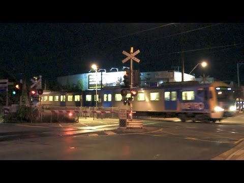 Level Crossing - Metro Trains Melbourne Electric Passenger Trains - PoathTV Trains in Australia