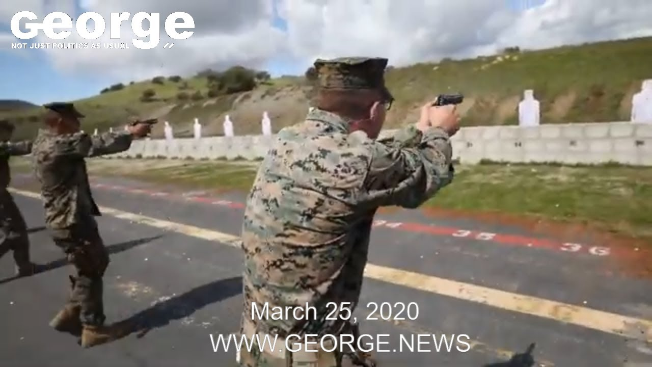 Sun's Out, Gun's Out! U.S. Marines participate in a pistol range at Camp Pendleton, March