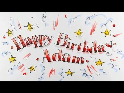 How To Draw Happy Birthday In Fancy Lettering Spoken Tutorial