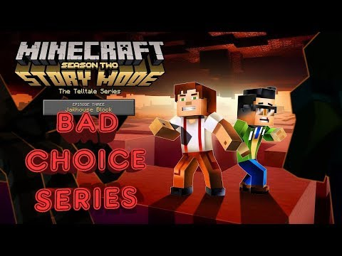 Minecraft: Story Mode Season 2 Episode 3 (1080p 60fps) - Jailhouse Block | Bad/Indelicate Part 1 😡