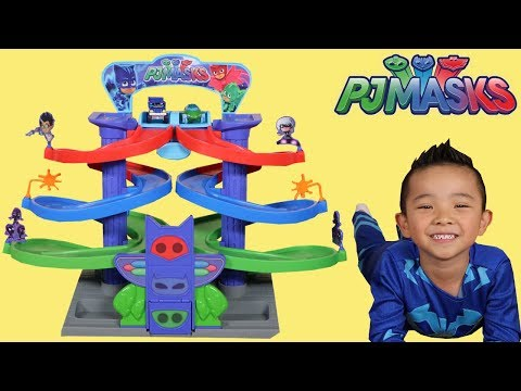 PJ Masks Nightime Adventures Spiral Playset Toys Unboxing Fun With Catboy Ckn Toys