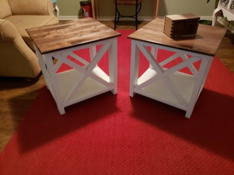 DIY Farmhouse End Tables