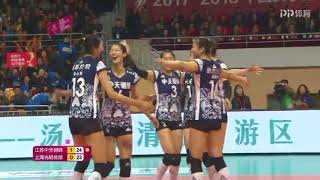 2017-2018 China Volleyball League Semifinal 2nd Round YUAN Xinyue Highlights