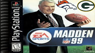 Madden NFL 99 PlayStation - Green Bay Packers @ Denver Broncos