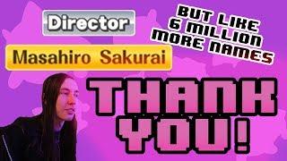 Thanking everyone in the SSB4 Wii U staff credits!