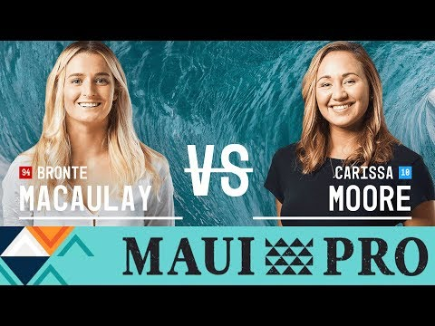 Bronte Macaulay vs. Carissa Moore - Quarterfinals, Heat 4 -