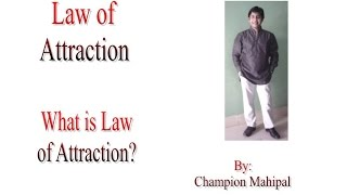 Law of Attraction Hindi 1 What is law of attraction