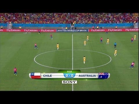 CHILE 3 Australia 1 MUNDIAL BRASIL 2014