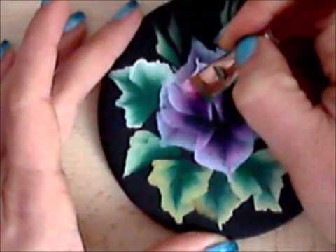 Рисуем плоской кистью цветы