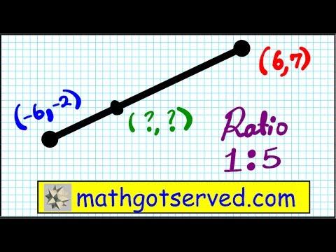 Geometry Common Core Directed Line Segment Divided Ratio Coordinates