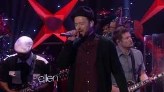 Justin Timberlake performing live his hit single TKO live on The El...