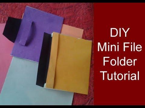 DIY mini folder making tutorial/ How to make mini folders/ Craft ideas