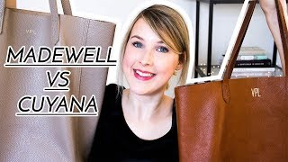 MADEWELL TRANSPORT TOTE VS CUYANA LEATHER TOTE | VICI LOVES