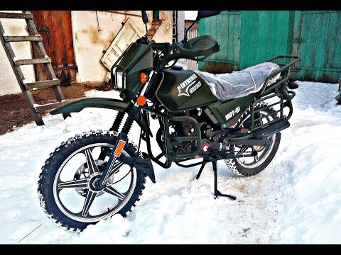 Первый запуск двигателя китайского мотоцикла после зимней стоянки
