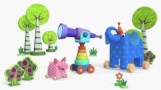 Деревяшки - серии про Прогулки, Путешествия, Искусство и прочие открытия! | Мультфильмы для детей