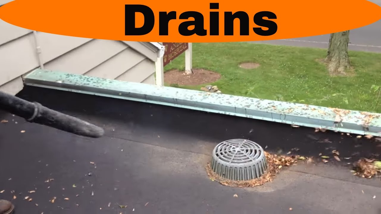 Flat Roof Drain How It Works And Best Practice Youtube