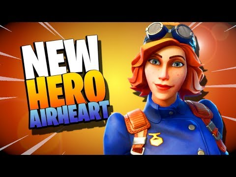 *NEW HERO* AIRHEART *WITH TURRET* | Fortnite Save the World Gameplay Review!!!