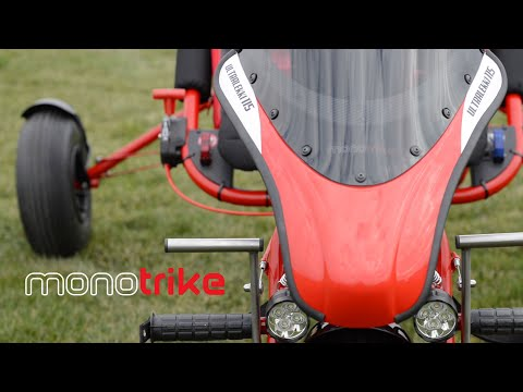 New Monotrike With Motoroma LC Engine - First Flight.
