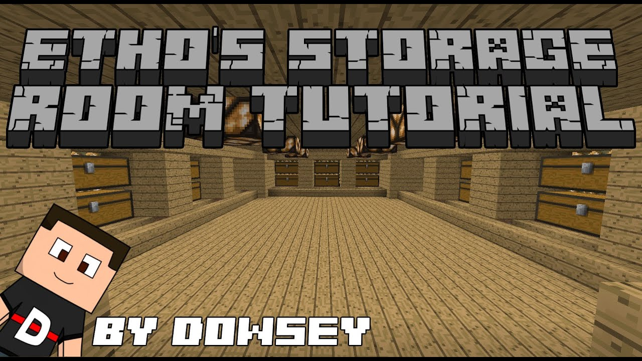 Minecraft  Ethos Storage Room TUTORIAL 132  YouTube