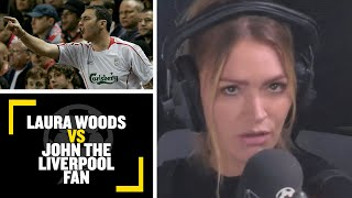 """I WANT THIS TO HAPPEN!"" Laura Woods takes on Liverpool fan John over European Super League!"
