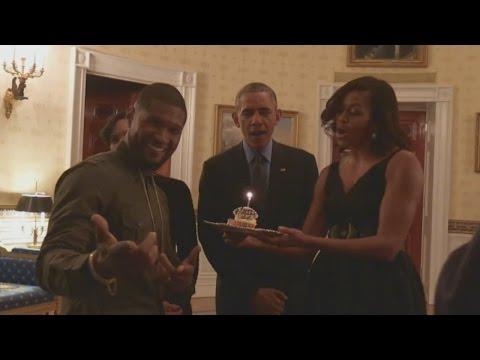 POTUS and FLOTUS sing 'Happy Birthday' to Usher