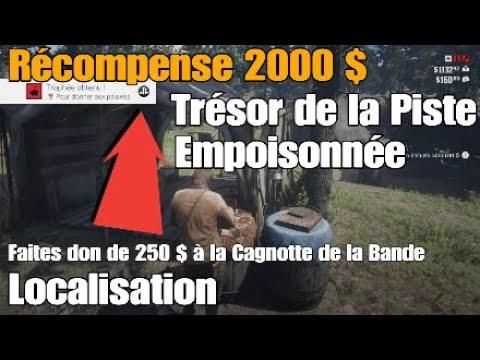 Carte Au Tresor De La Piste Empoisonnee.Red Dead Redemption 2 Tresor De La Piste Empoisonnee Recompense 2000