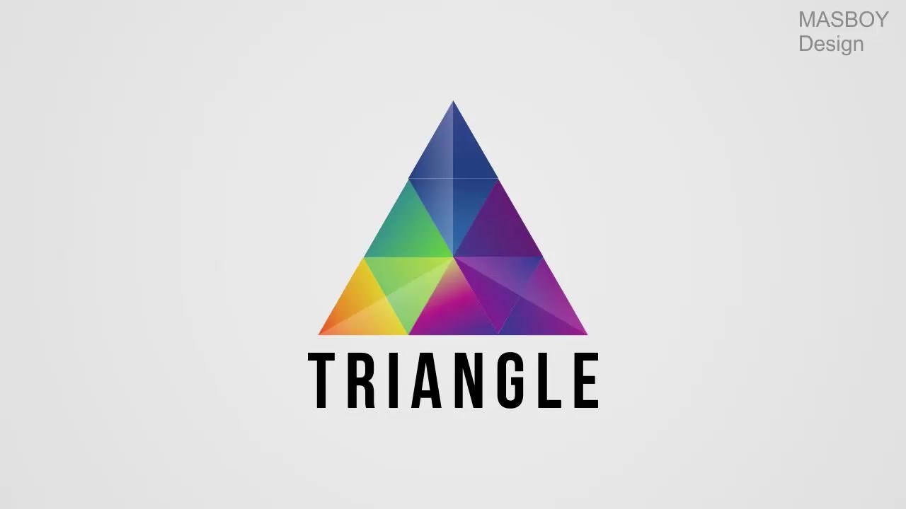 how to make professional triangle logo in coreldraw youtube