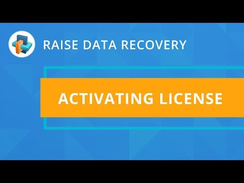 Raise Data Recovery: Activating licenses [SysDev Laboratories]