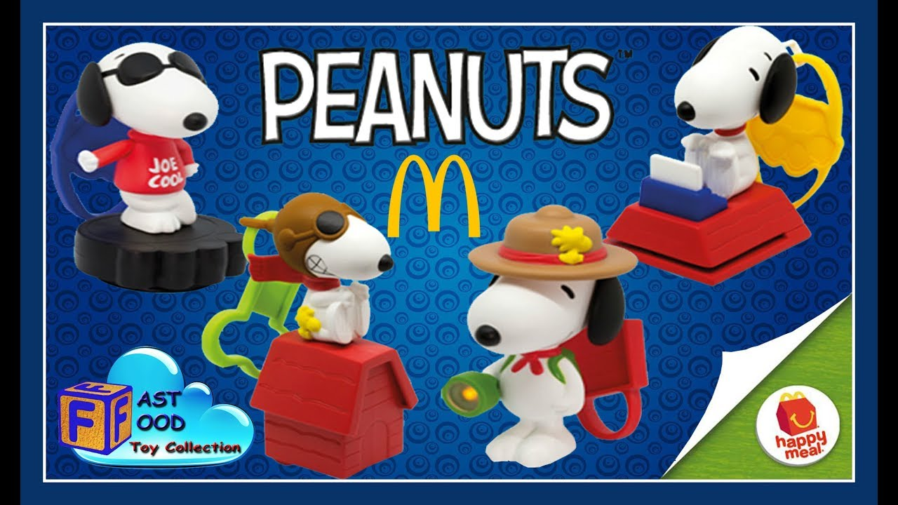 3576bf1e43 2018 PEANUTS Snoopy s World McDonald s Happy Meal Toys (complete set ...