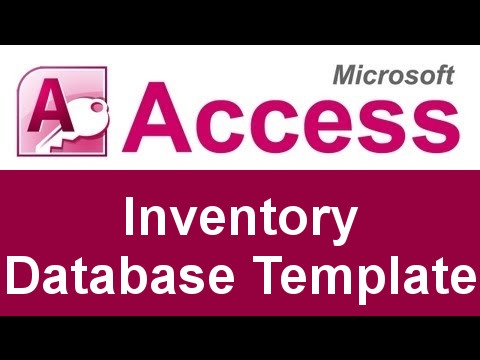 Microsoft Access Inventory Database Template - Youtube
