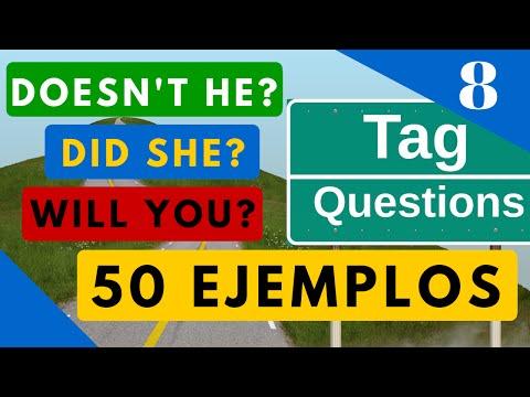 50 ejemplos de Tag Questions en todos los tiempos verbales - Question Tags en Inglés [Video 8]