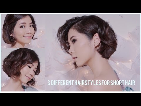 3 Different Hairstyles for Short hair using Flatiron