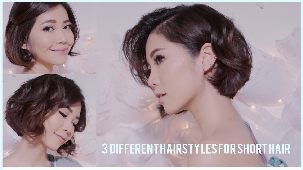 3 Different Hairstyles for Short hair using Flat iron