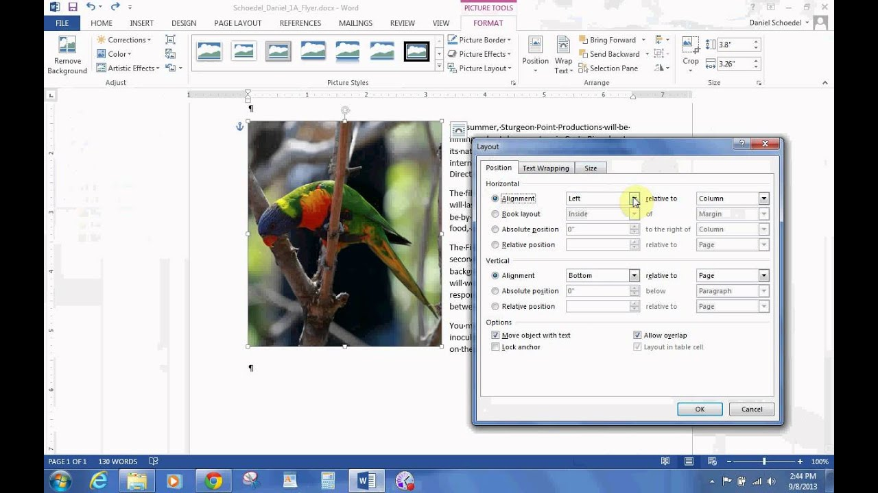 how to add chapters in word