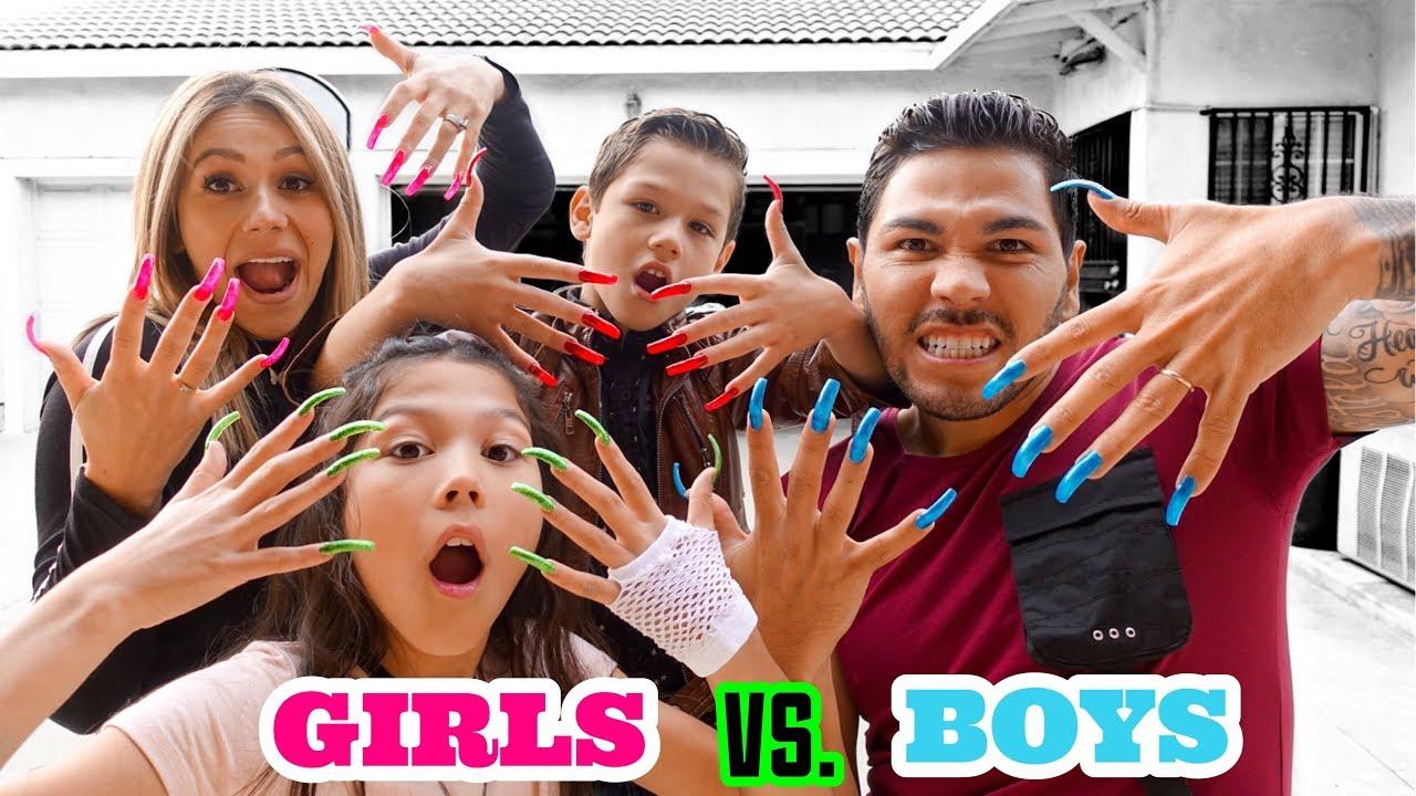 wearing-super-long-acrylic-nails-for-day-girls-vs-boys-familia-diamond