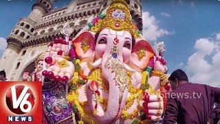 Ganesh Nimajjanam 2015   Exclusive Visuals of Ganesh Shoba Yatra in Hyderabad   V6 News